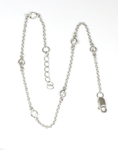 Cubic Zirconia by the Yard Anklet