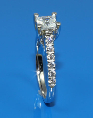 Princess Cut Diamond Ring Setting