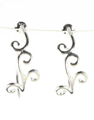 Scroll Design Hoops