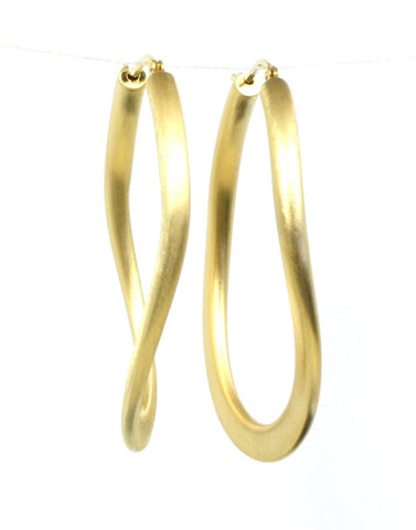 Satin Link Hoops with Gold Plating by Bastian-Inverun