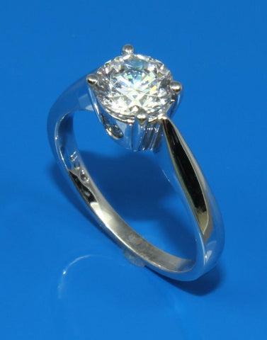 Side View Diamond Solitaire Ring Setting