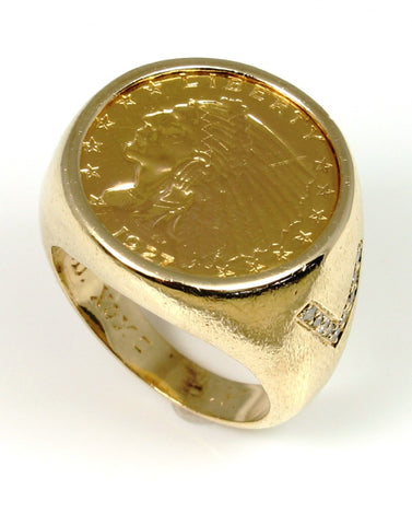 $2.50 Indian Liberty Coin Ring