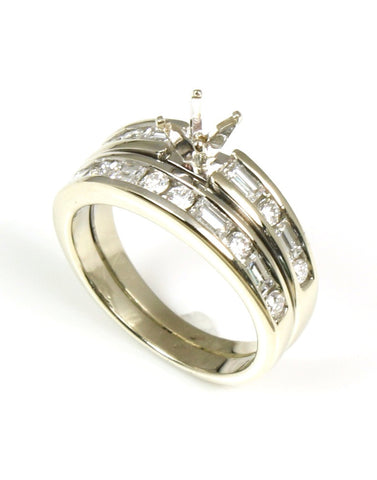 Diamond Mounting with Matching Band