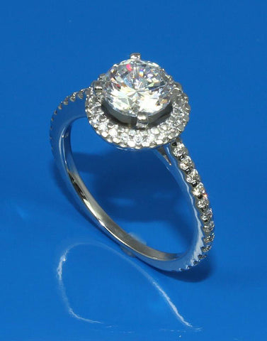 .51ctw Diamond Halo Engagement Ring Setting
