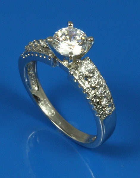 .37ctw Diamond Three Row Engagement Ring Setting