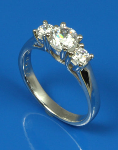 .30ctw Diamond Three Stone Engagement Ring Setting