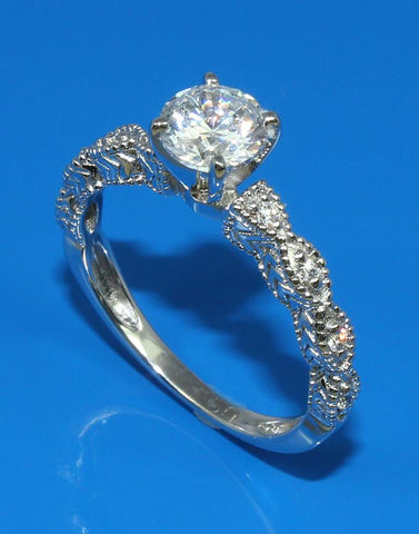 .08ctw Diamond Engraved Engagement Ring Setting
