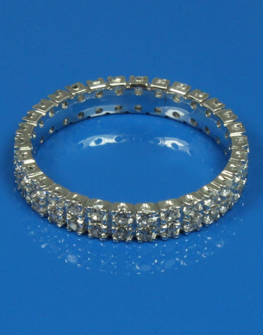 .90ctw Double Row Eternity Band