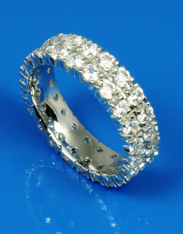 2.20ctw Diamond Double Row Eternity Ring