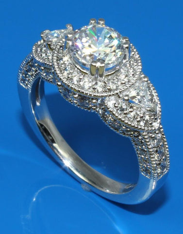 Fancy Diamond Halo Ring Setting
