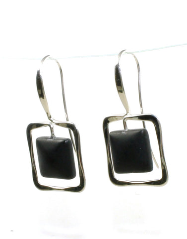 Zenith Onyx Earrings by Ed Levin
