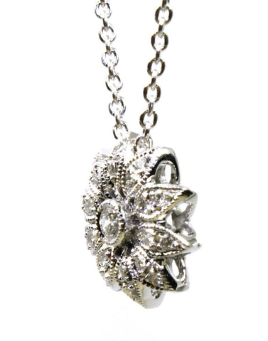 .13ctw Diamond Flower Necklace