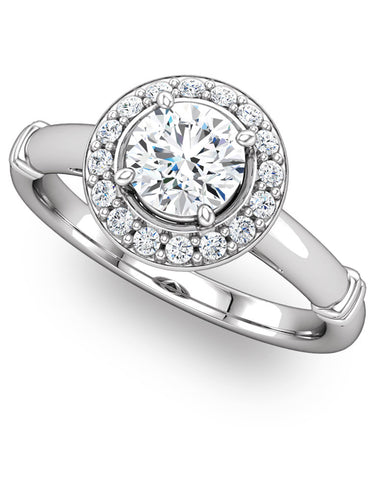 """Paige"" Diamond Ring Setting by Ever & Ever"