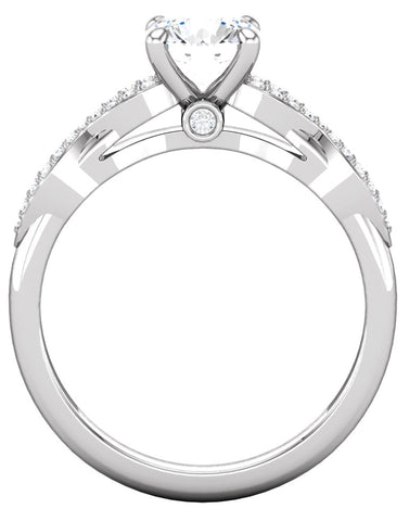 """Sophia"" Diamond Ring Setting by Ever & Ever"