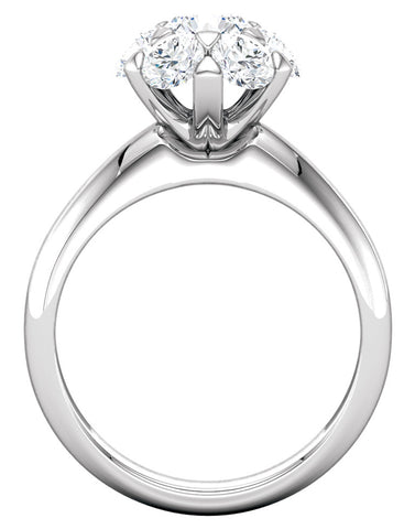 """Andie"" Diamond Ring Setting by Ever & Ever"