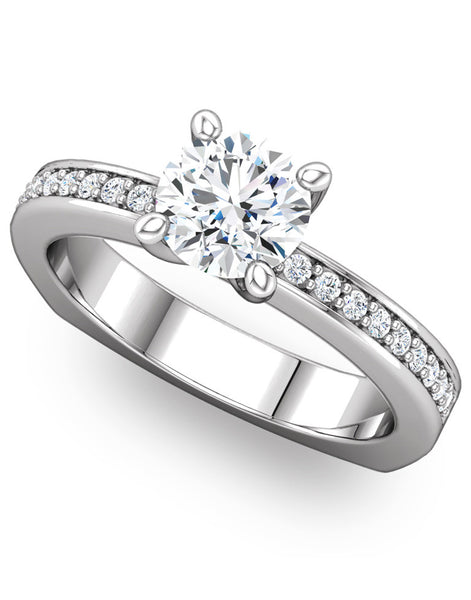 """Francis"" Diamond Ring Setting by Ever & Ever"