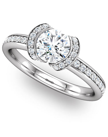 """Blakely"" Diamond Ring Setting by Ever & Ever"