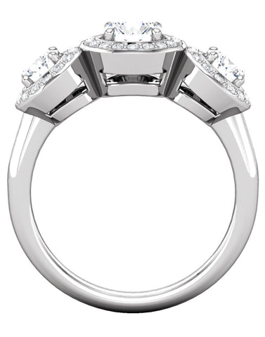 """Aspen"" Diamond Ring Setting by Ever & Ever"
