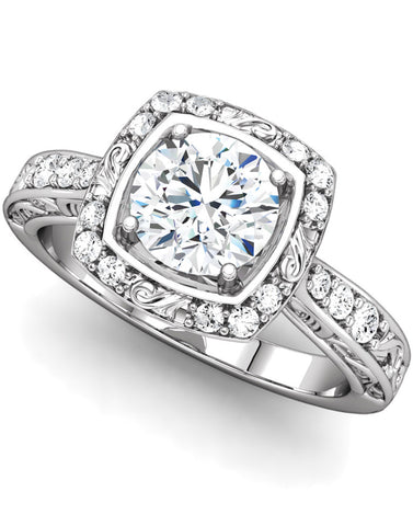 """Harlow"" Diamond Ring Setting by Ever & Ever"
