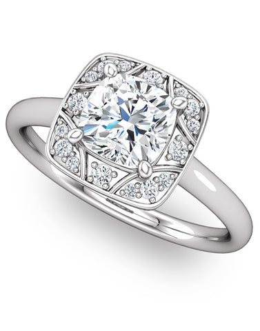 """Jewel"" Diamond Ring Setting by Ever & Ever"
