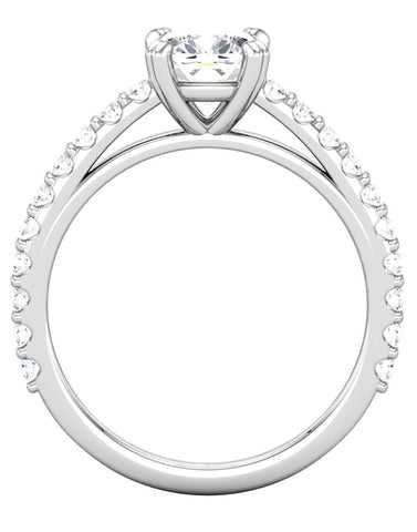"""Cora"" Diamond Ring Setting by Ever & Ever"