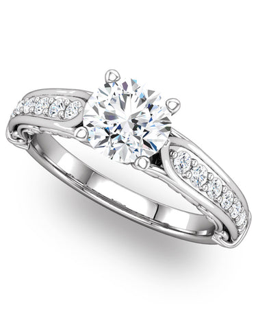 """Josephine"" Diamond Ring Setting by Ever & Ever"