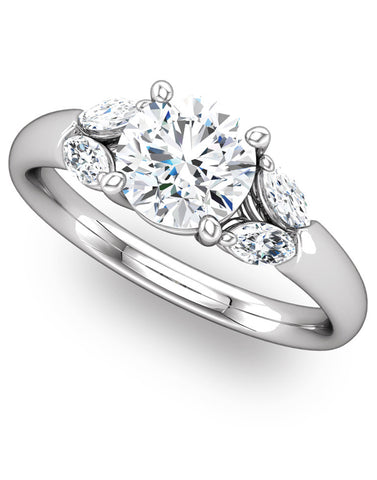 """Calla"" Diamond Ring Setting by Ever & Ever"