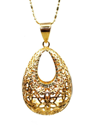 Gold Oval Open Pendant