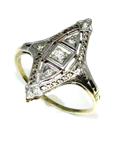 .11ctw Diamond Vintage Style Ring