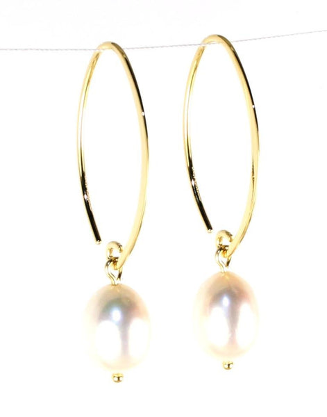 Simple Sweep Pearl Earring by Carla & Nancy B.
