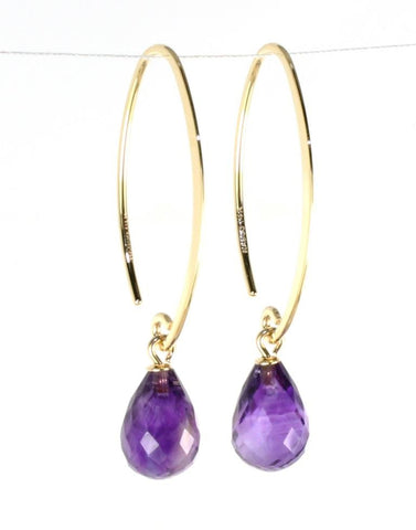 Simple Sweep Amethyst Earrings by Carla & Nancy B.