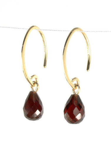 Mini Simple Sweep Garnet Earring by Carla & Nancy B.