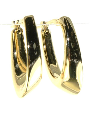 Oval Visor Earring by Carla & Nancy B