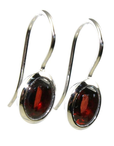 Cabochon Garnet Drop Earrings by Bastian Inverun