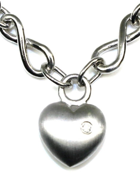 Chained Diamond Heart Necklace by Bastian Inverun