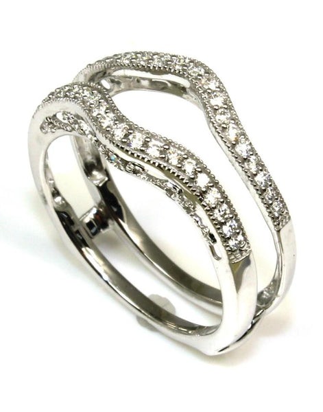 .25ctw Diamond Milgrain Guard Ring by Ever & Ever