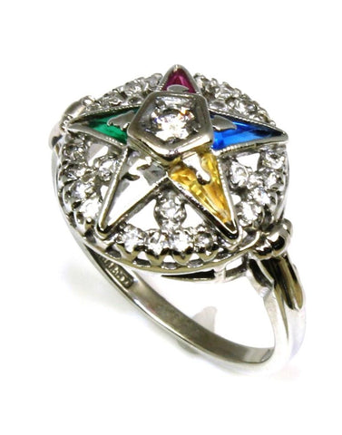 .21ctw Diamond and Gem Eastern Star Ring