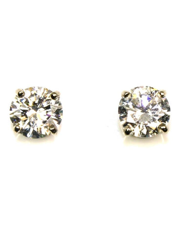 1.51ctw Round Diamond Stud Earrings