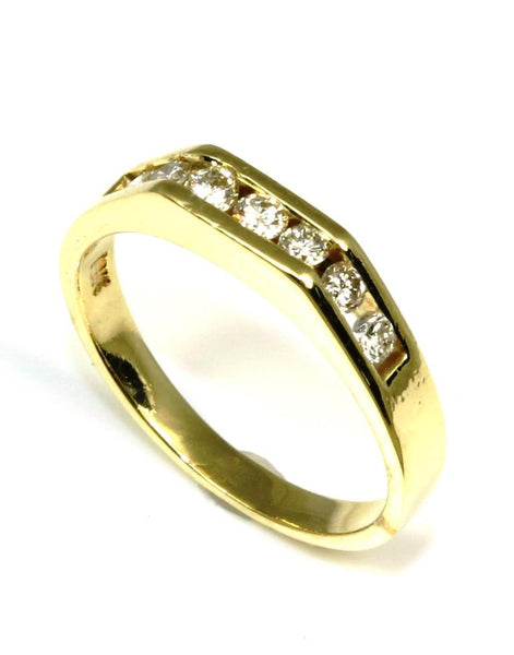 Diamond .24ctw Square Top Channel Ring
