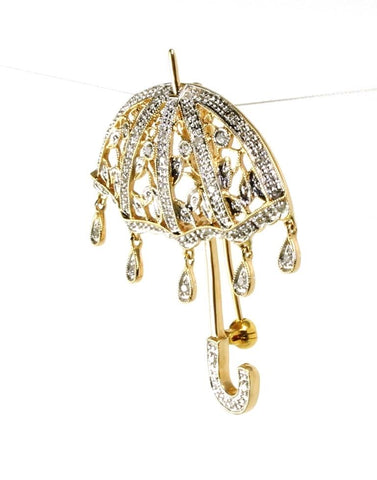 Diamond Umbrella Pin
