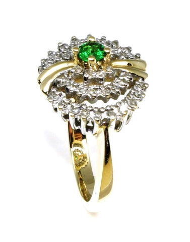 Emerald and Diamond Fashion Ring