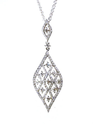 Diamond Lace Necklace by Allison Kaufman