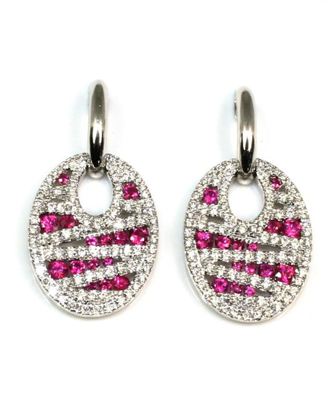 Ruby and Diamond Earrings by Allison Kaufman