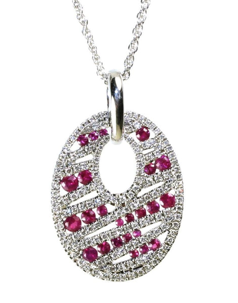Ruby and Diamond Necklace by Allison Kaufman