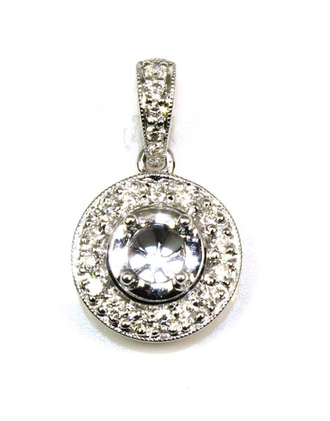 Diamond Halo Pendant Setting