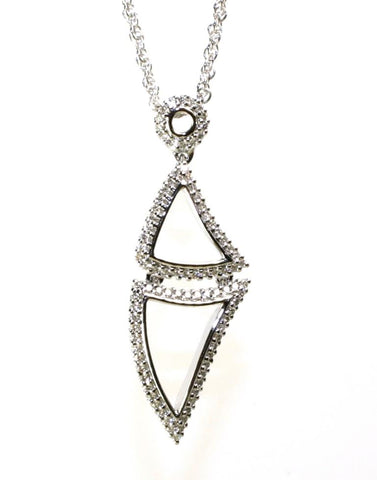 Double Triangle Diamond Necklace by Allison Kaufman