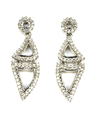 Double Triangle Diamond Earrings by Allison Kaufman