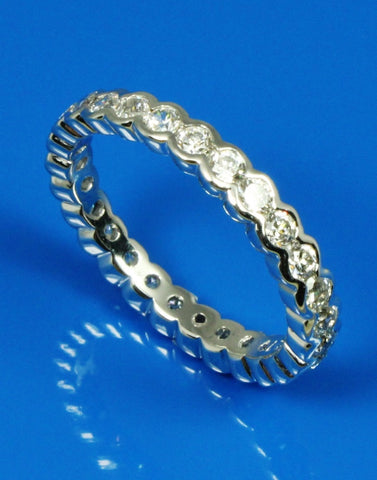 1.25ctw Diamond Bezel Set Eternity Band