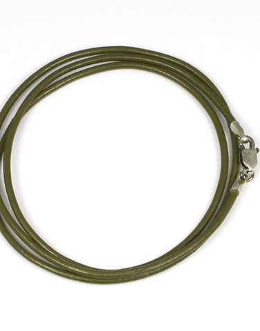 Leather Cord, Olive Green