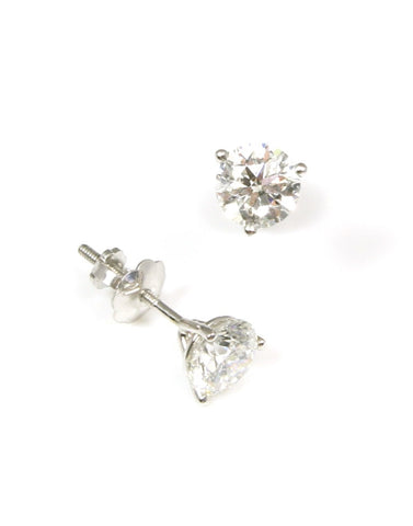 .75 Carat Total Diamond Stud Earrings